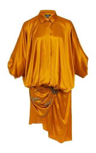 ALENA AKHMADULLINA   Alena Akhmadullina Draped Silk Dress   Goxip