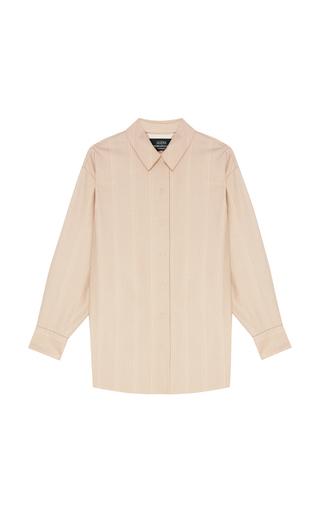 ALENA AKHMADULLINA   Alena Akhmadullina Collared Wool Shirt   Goxip