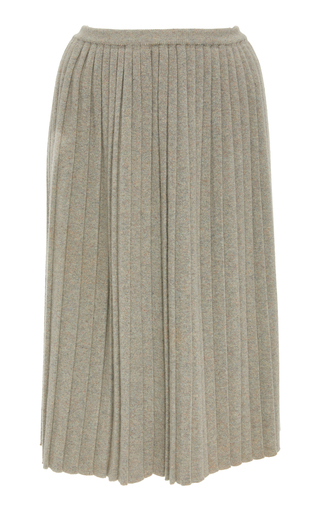 ALENA AKHMADULLINA   Alena Akhmadullina Pleated Cashmere Skirt   Goxip