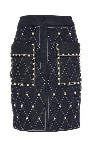 ALENA AKHMADULLINA   Alena Akhmadullina Studded Denim Skirt   Goxip