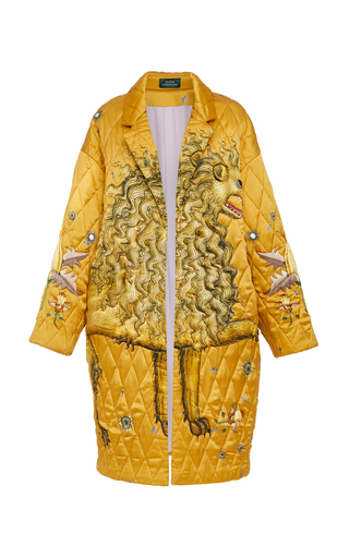 ALENA AKHMADULLINA   Alena Akhmadullina Quilted Silk Coat   Goxip
