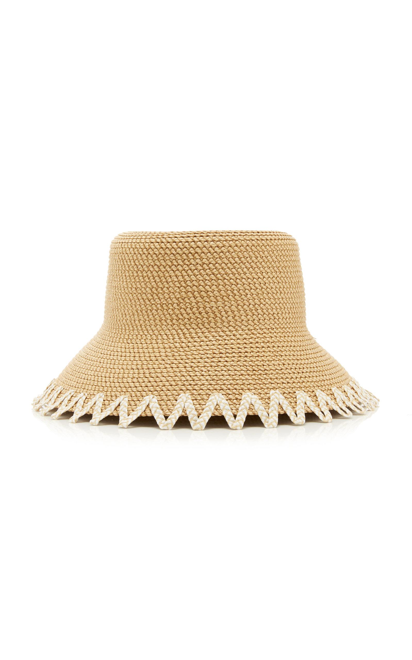 50bb8c24d38 Eric JavitsEloise Zig-Zag Trim Woven Bucket Hat. CLOSE. Loading