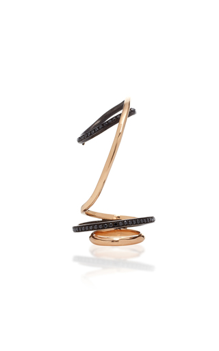 GAELLE KHOURI   Gaelle Khouri Contortion 18K Gold And Diamond Ring   Goxip