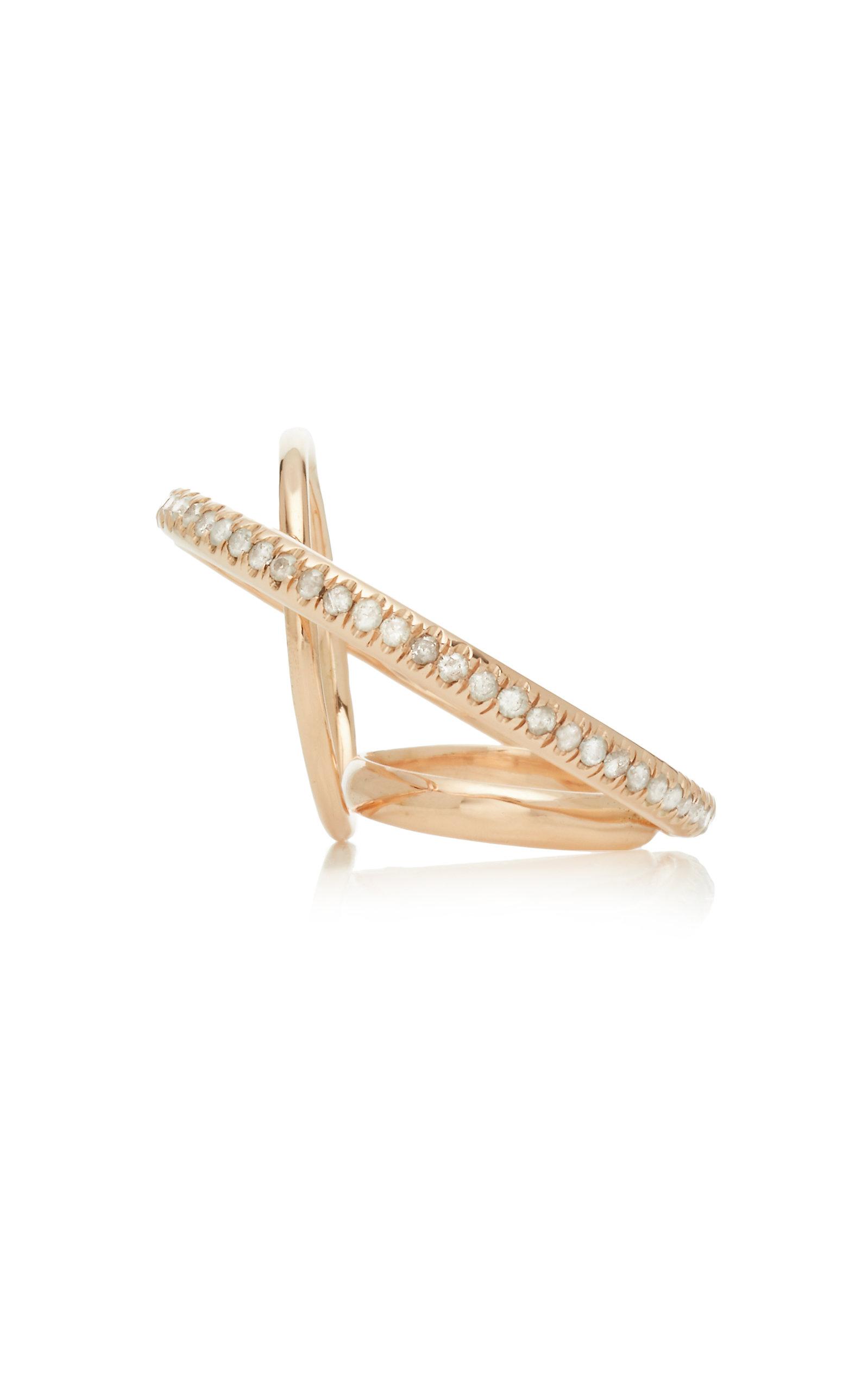 GAELLE KHOURI Dianoia 9K Gold And Diamond Pinkie Ring
