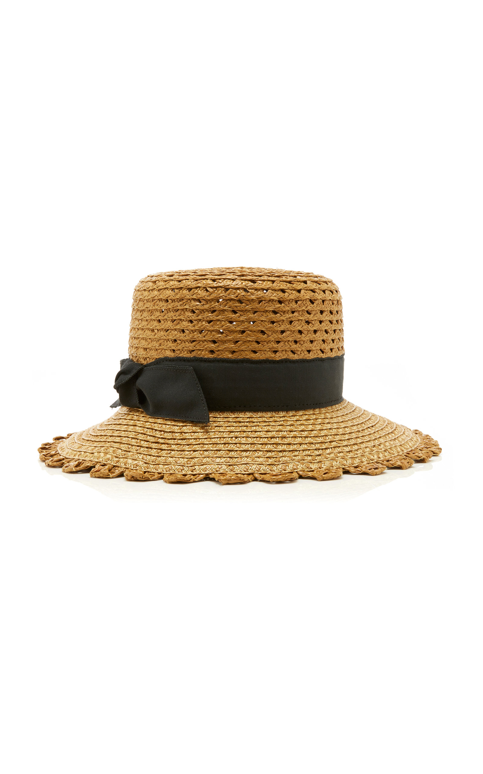 61102fbf5dd Eric Javits Montauk Grosgrain-Trim Straw Hat