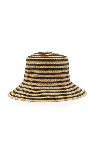 ERIC JAVITS | Eric Javits Dame Striped Grosrain And Straw Hat | Goxip