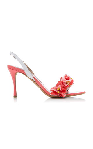 TABITHA SIMMONS | Tabitha Simmons Follie Floral-Embellished Patent Leather Sandals | Goxip