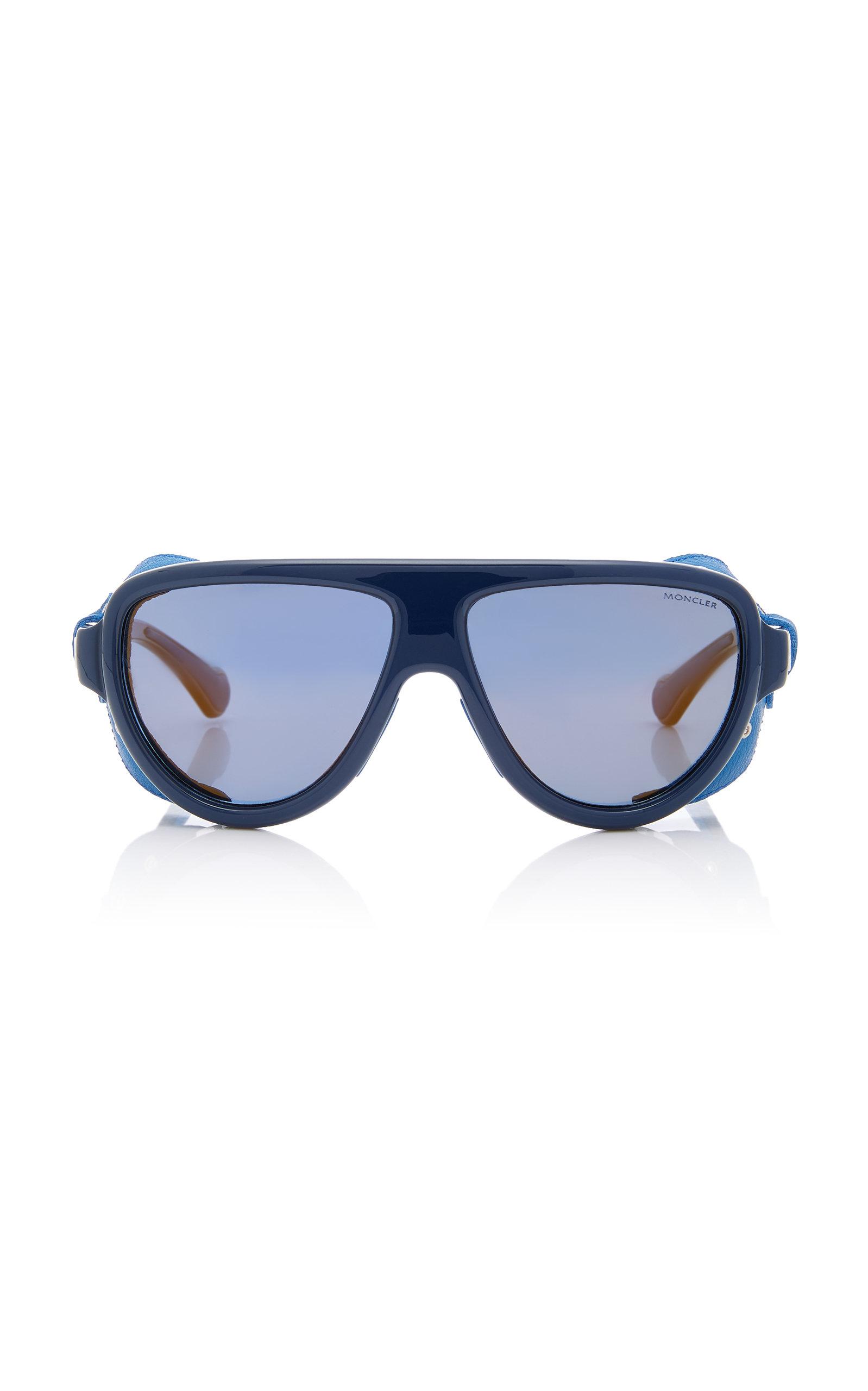 45536a418a Moncler sunglasses Acetate and Leather D-Frame Sunglasses. CLOSE. Loading