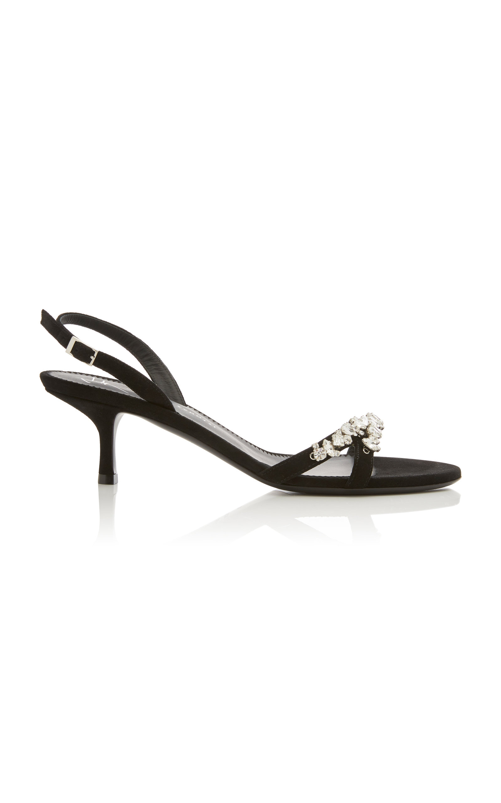 ad854ab9ad8a0d Giuseppe Zanotti Alien Crystal-Embellished Suede Slingback Sandals In Black