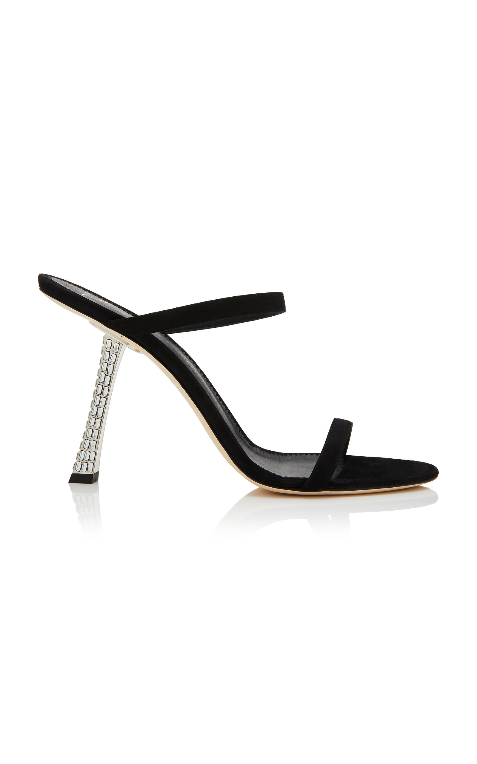 39231014769b9 Crystal-Embellished Suede Sandals by Giuseppe Zanotti | Moda Operandi