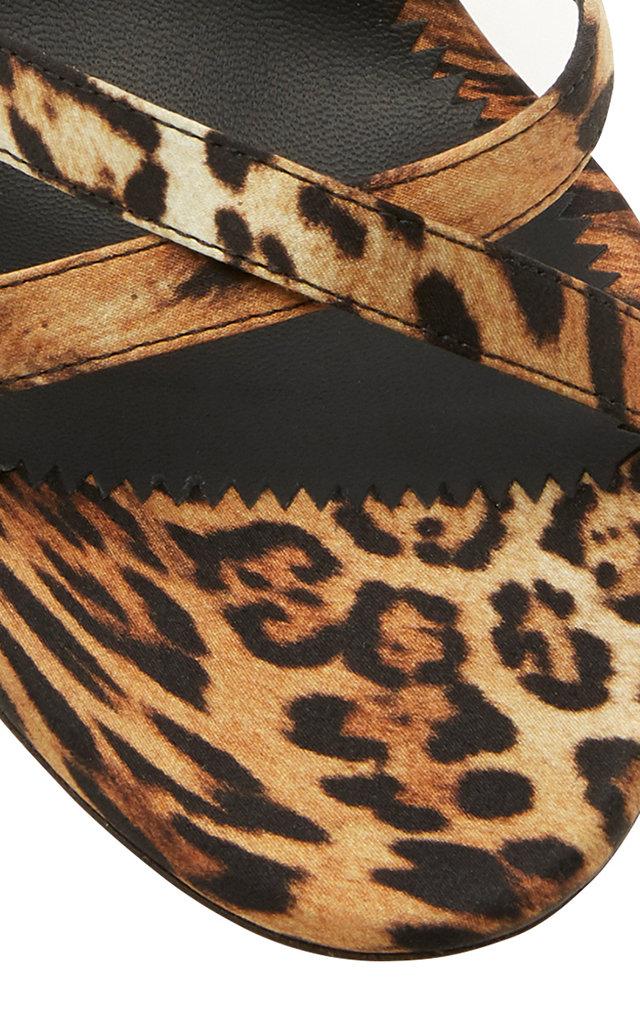 c313b7072ee42 Crystal-Embellished Leopard-Print Canvas Sandals