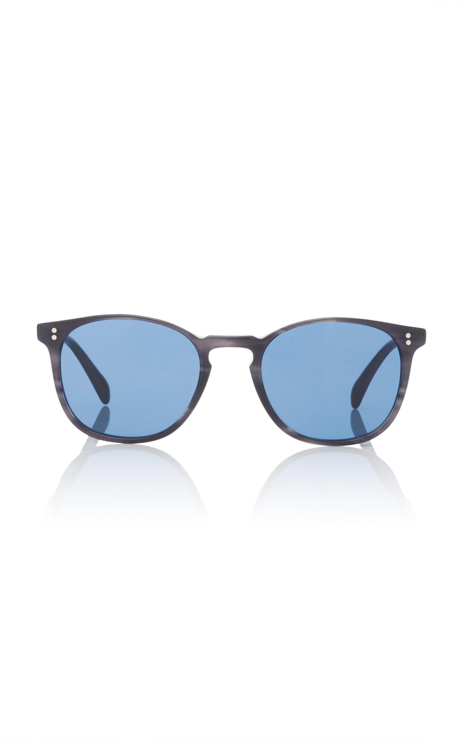 eda7259a36e Oliver Peoples M O Exclusive Finley Esq. Round Sunglasses In Black ...