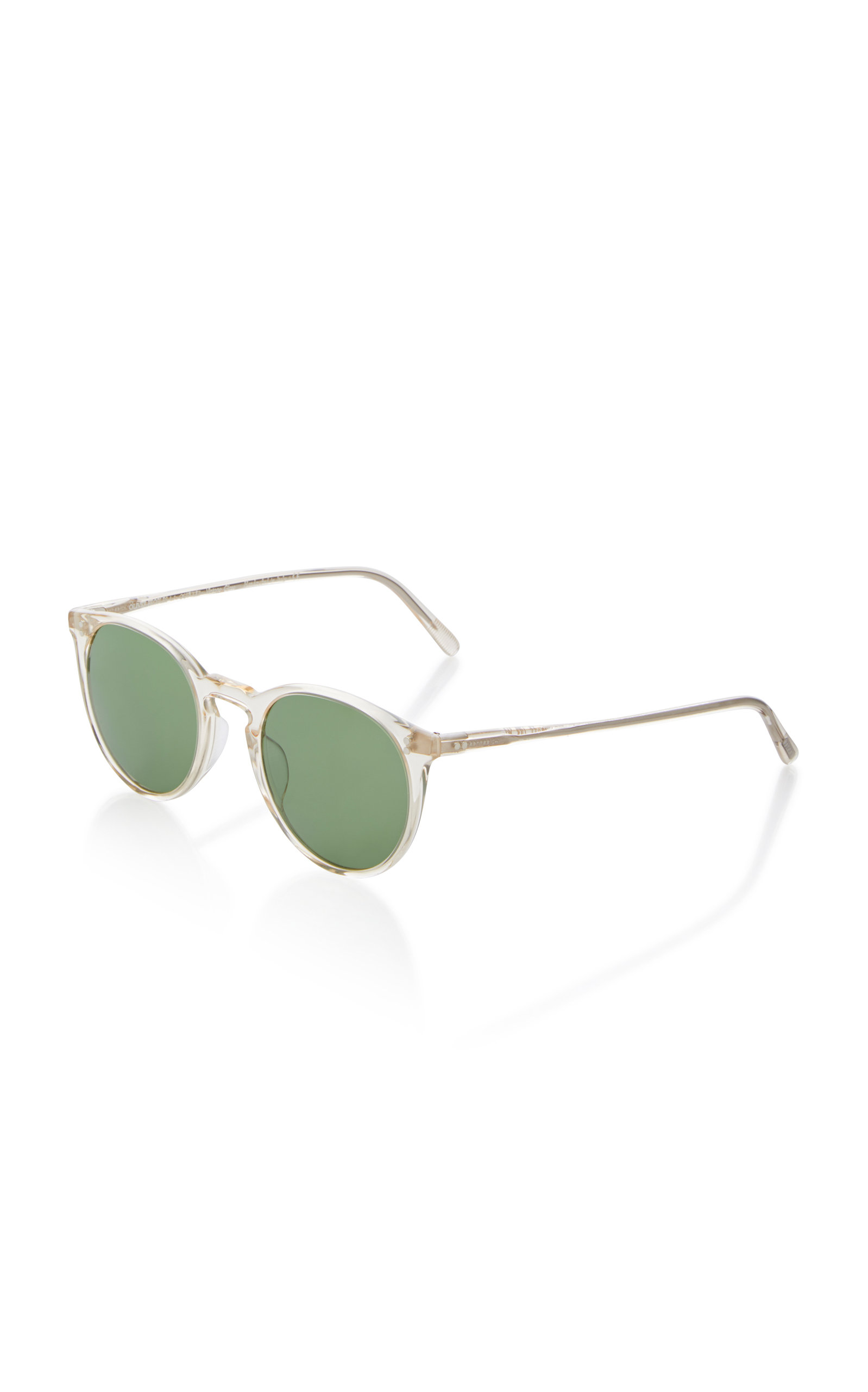 a9fde6071d Oliver Peoples O Malley Round Sunglasses In White
