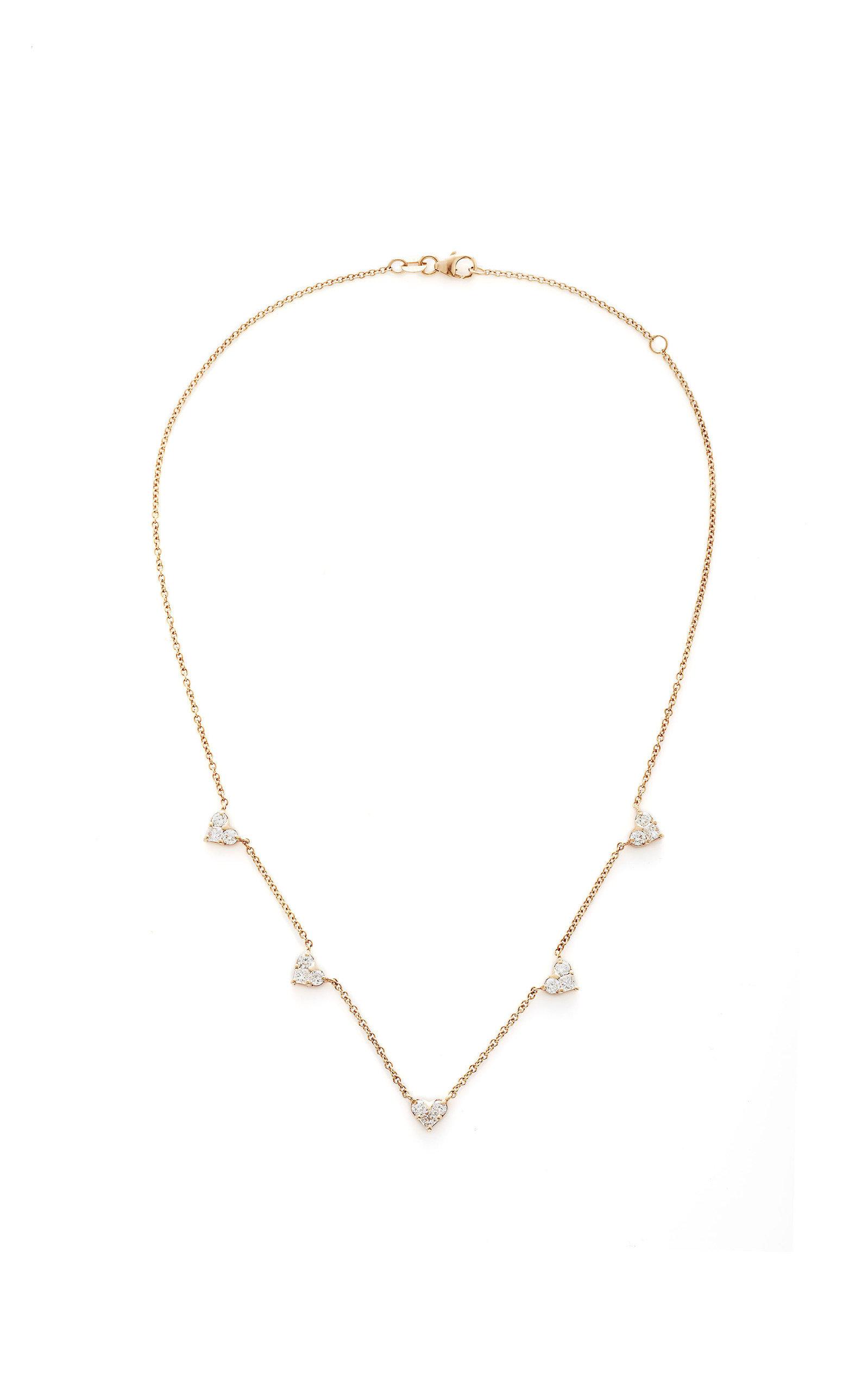 SHAY | Shay 18K Rose Gold Diamond Necklace | Goxip