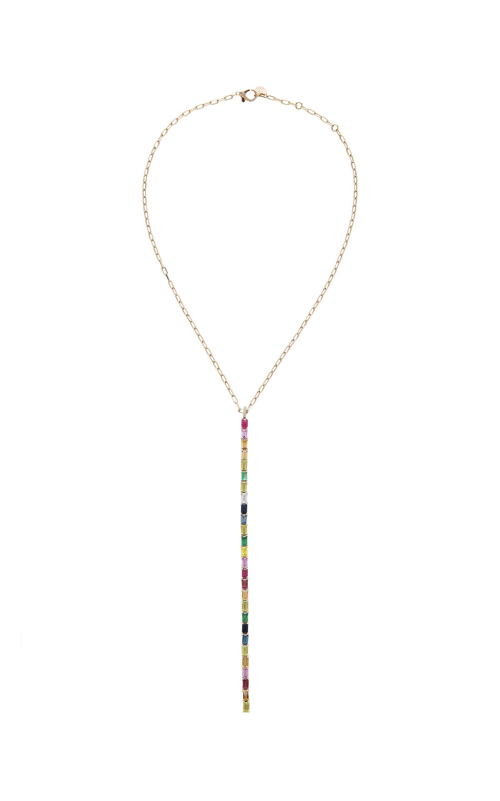 SHAY | Shay 18K Rose Gold Multi-Stone Necklace | Goxip
