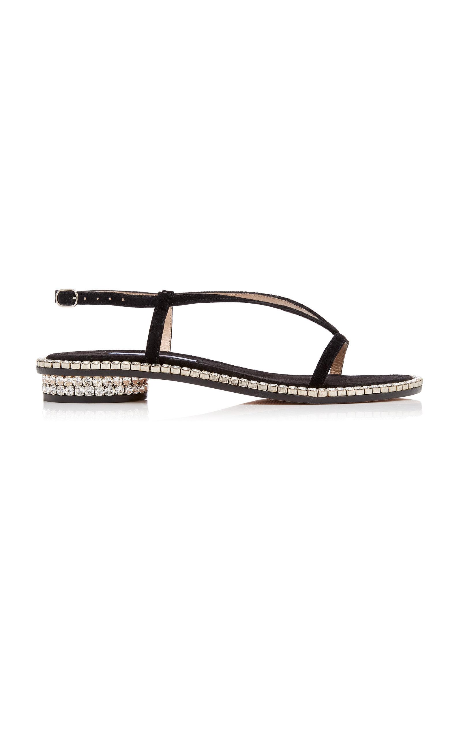 0404b9e8797b Faye Crystal-Embellished Slingback Sandals by Stuart Weitzman