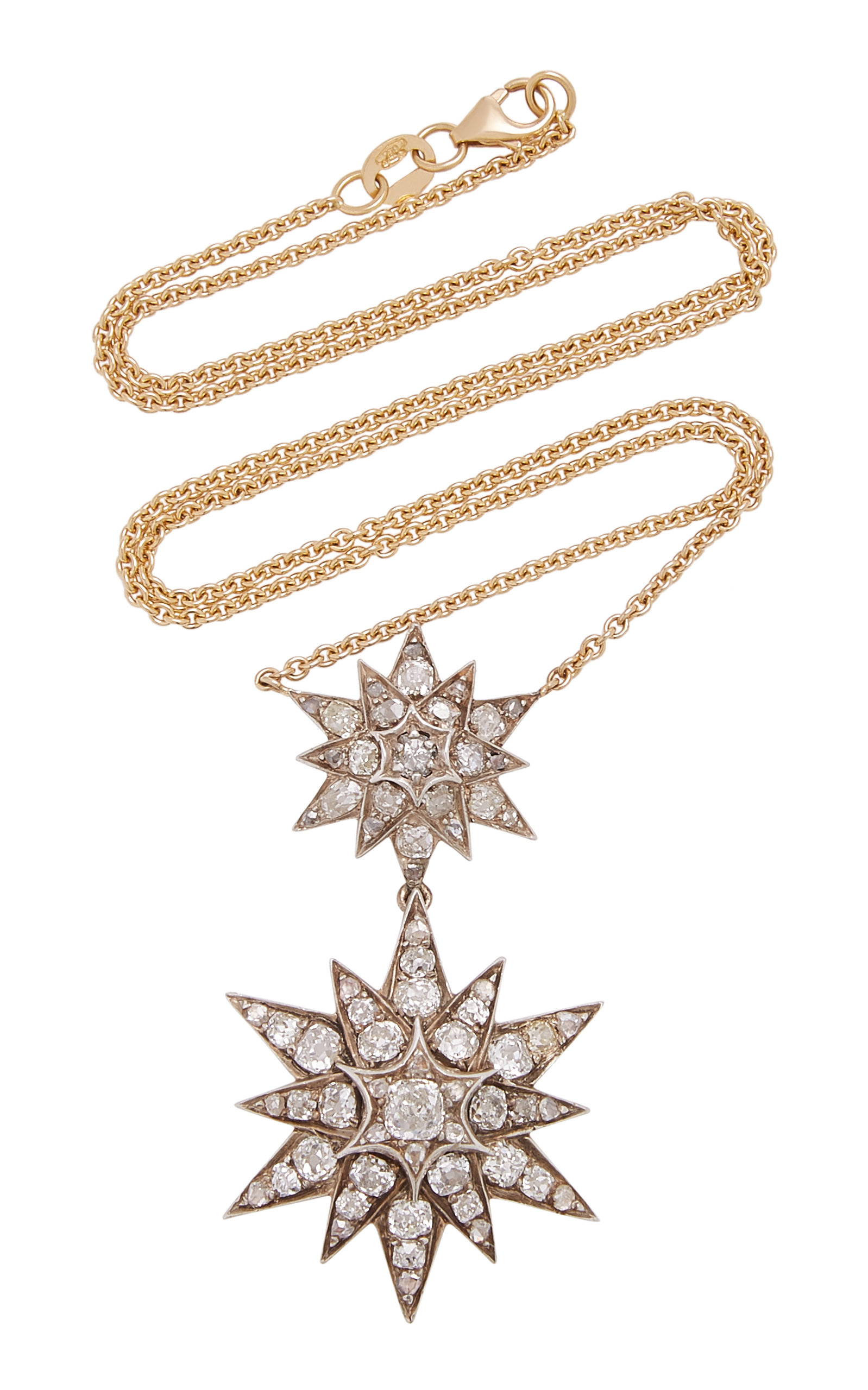 TONI + CHLOE GOUTAL Double-Tiered Gold Diamond Necklace