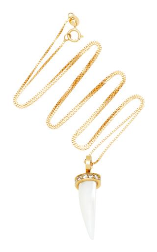 ARON & HIRSCH | Aron & Hirsch Mursi 18K Gold Resin And Diamond Necklace | Goxip