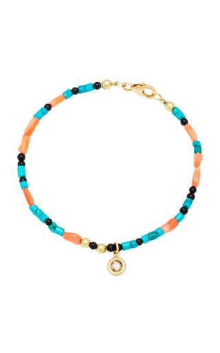 ARON & HIRSCH | Aron & Hirsch Surma 18K Gold Agate Bead And Diamond Bracelet | Goxip