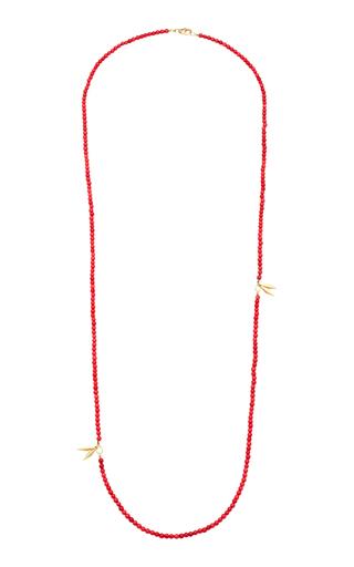 ARON & HIRSCH | Aron & Hirsch Karo 18K Gold Agate Necklace | Goxip