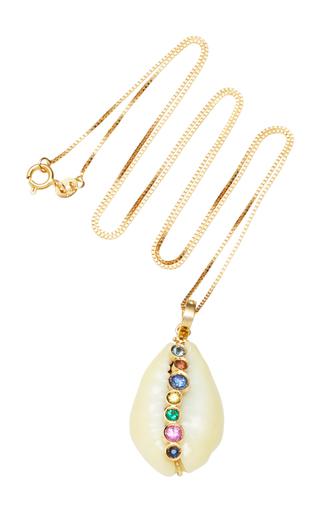ARON & HIRSCH | Aron & Hirsch Hamar Shell 18K Gold And Sapphire Necklace | Goxip