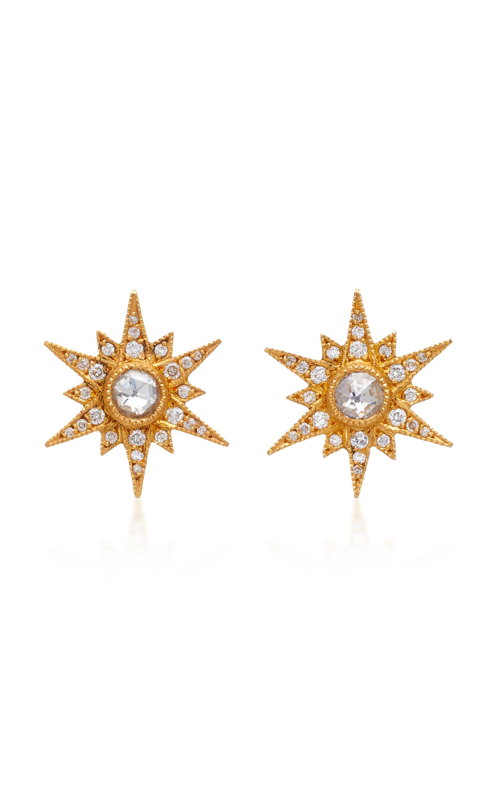4d9cf6c5b Arman Sarkisyan 22K Gold Diamond Stud Earrings | ModeSens