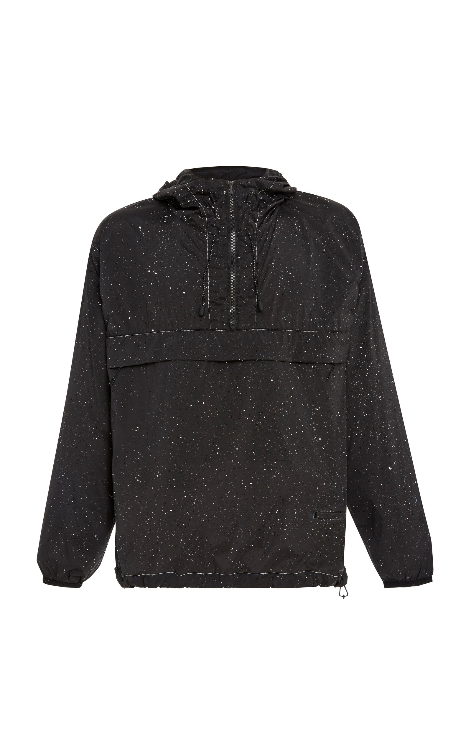 SATISFY | Satisfy Paint-Splattered Shell Hooded Jacket | Goxip