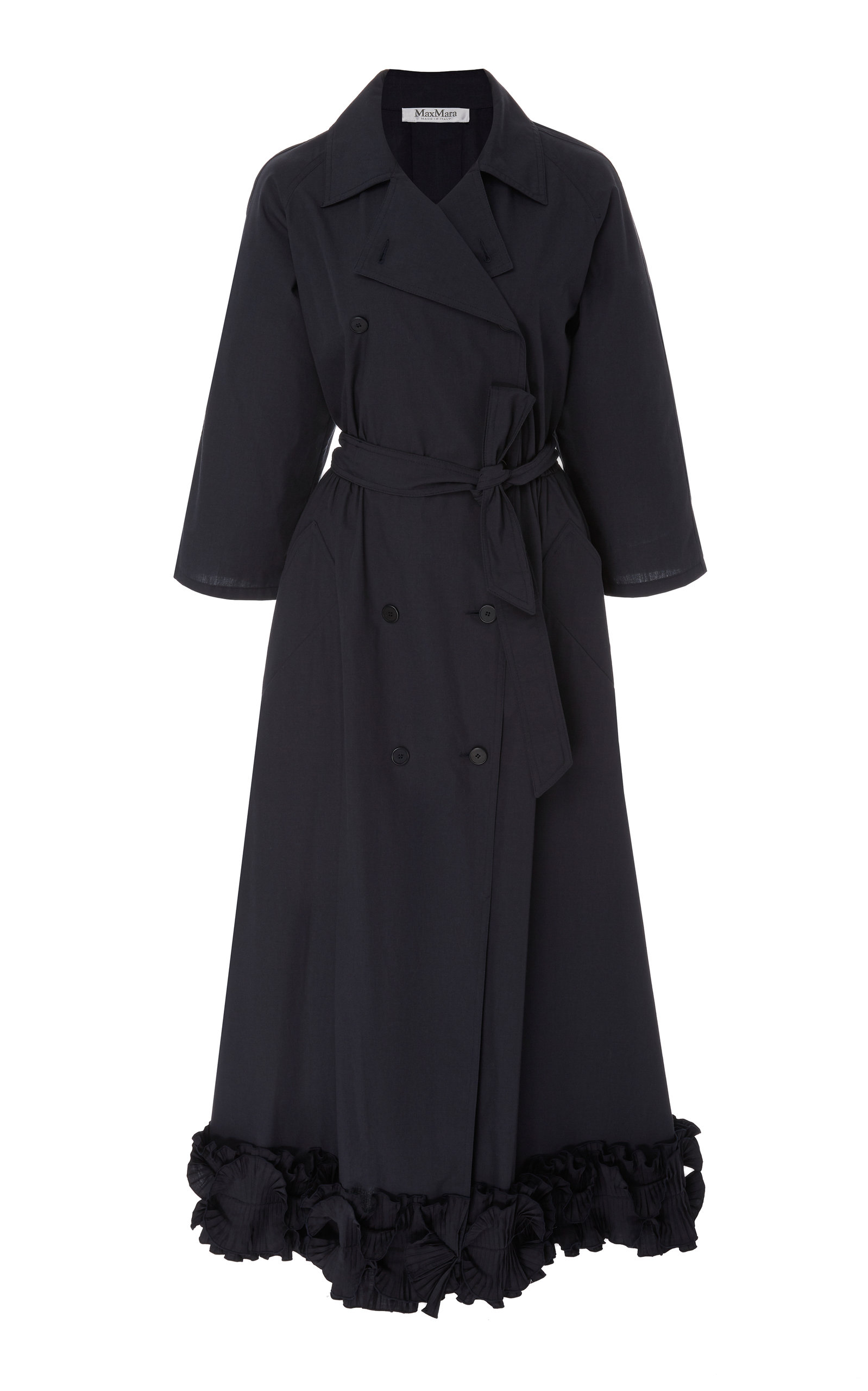 263da56a7d Max MaraBelted Ruffle-Hem Midi Coat Dress. CLOSE. Loading