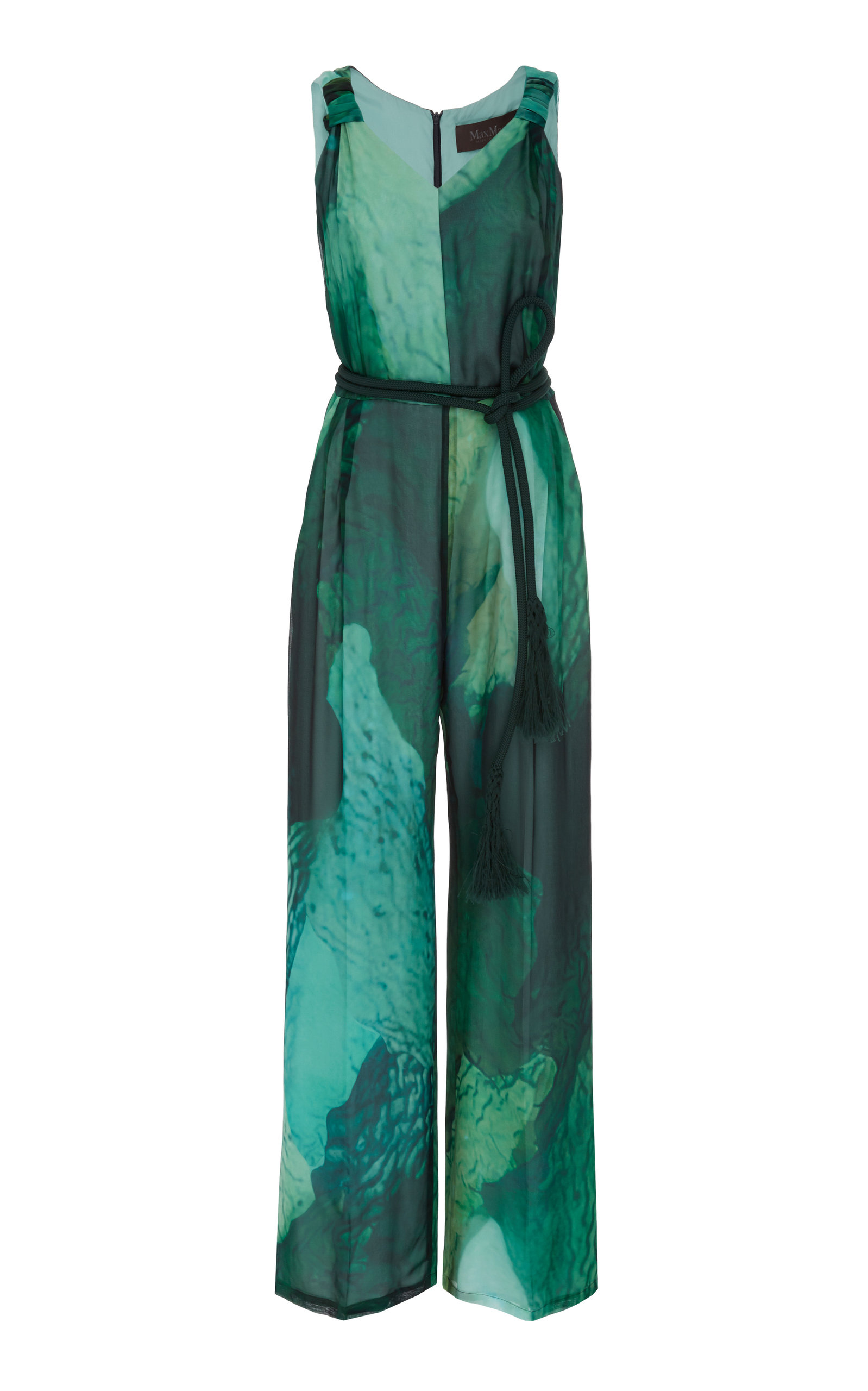 be4d0dc2aa Printed Wide-Leg Silk-Chiffon Jumpsuit by Max Mara