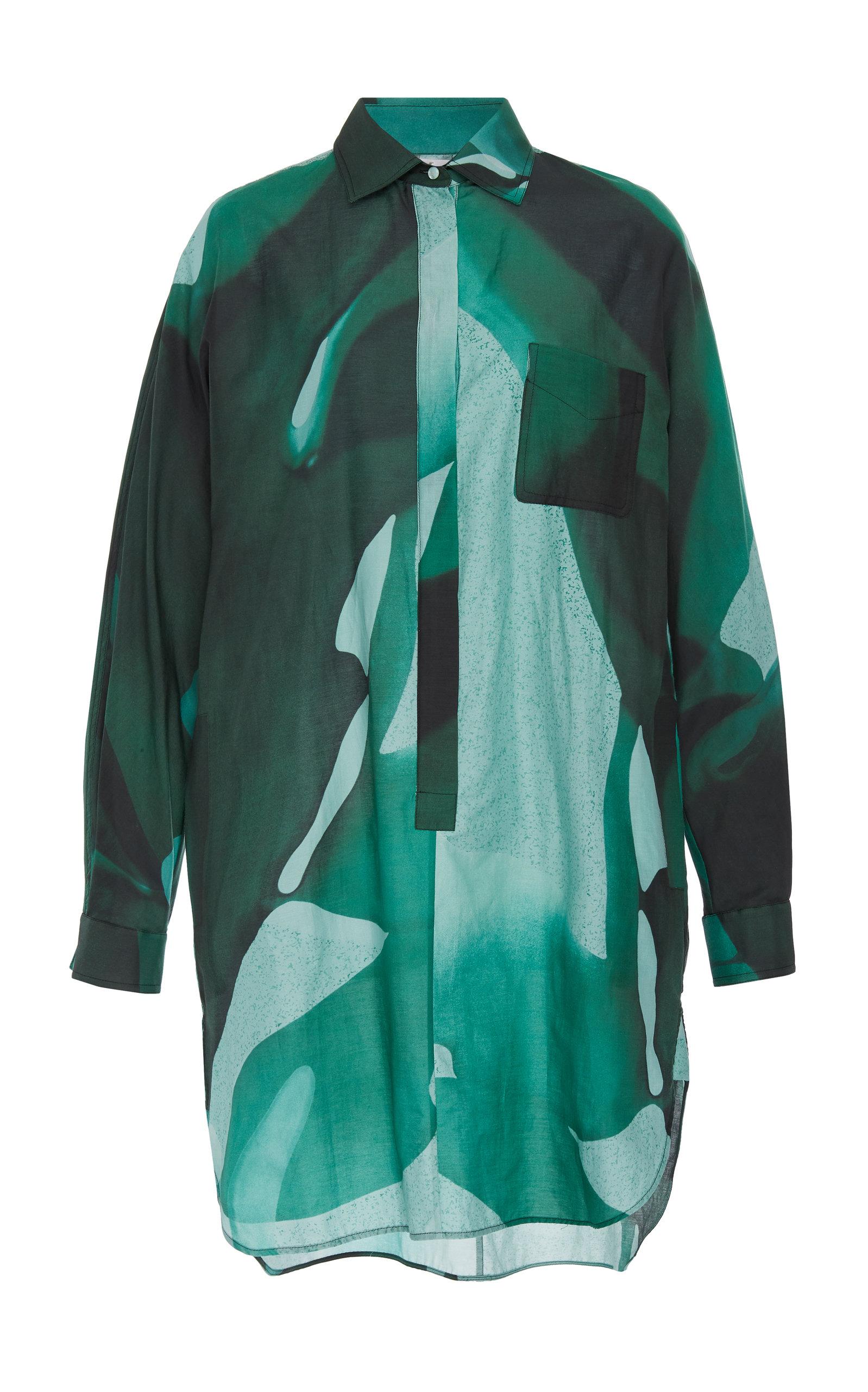 03439cbe059ee Max MaraOversized Printed Cotton-Silk Shirt. CLOSE. Loading
