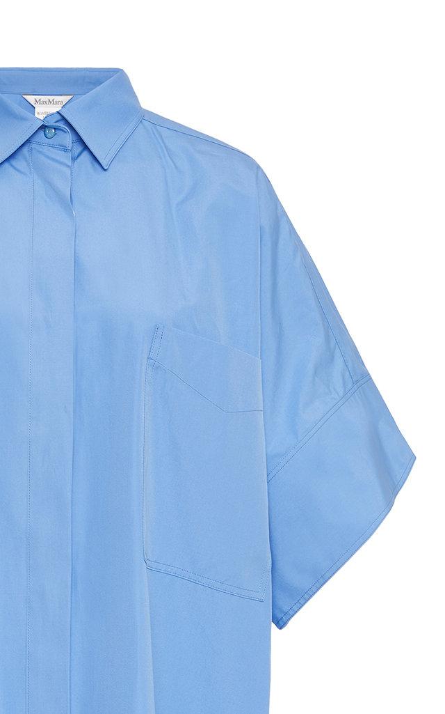 dd552f7409dd52 Oversized Cotton-Poplin Mini Shirt Dress by Max Mara | Moda Operandi