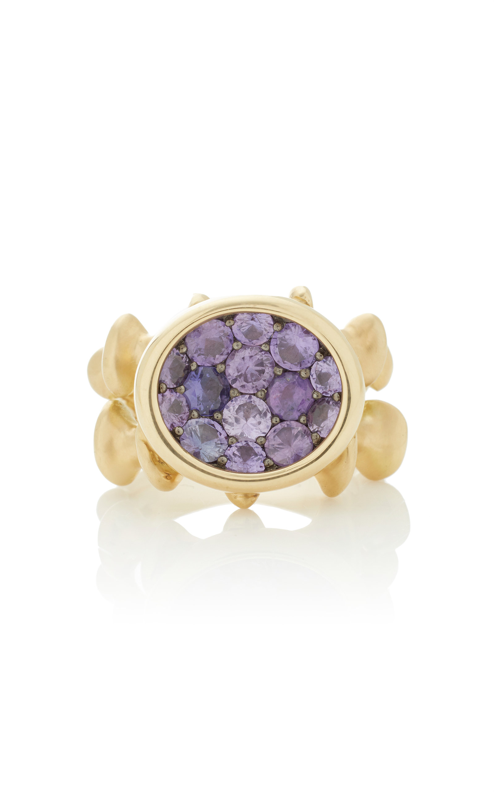 VRAM Chrona 18K Gold Sterling Silver And Sapphire Ring in Purple