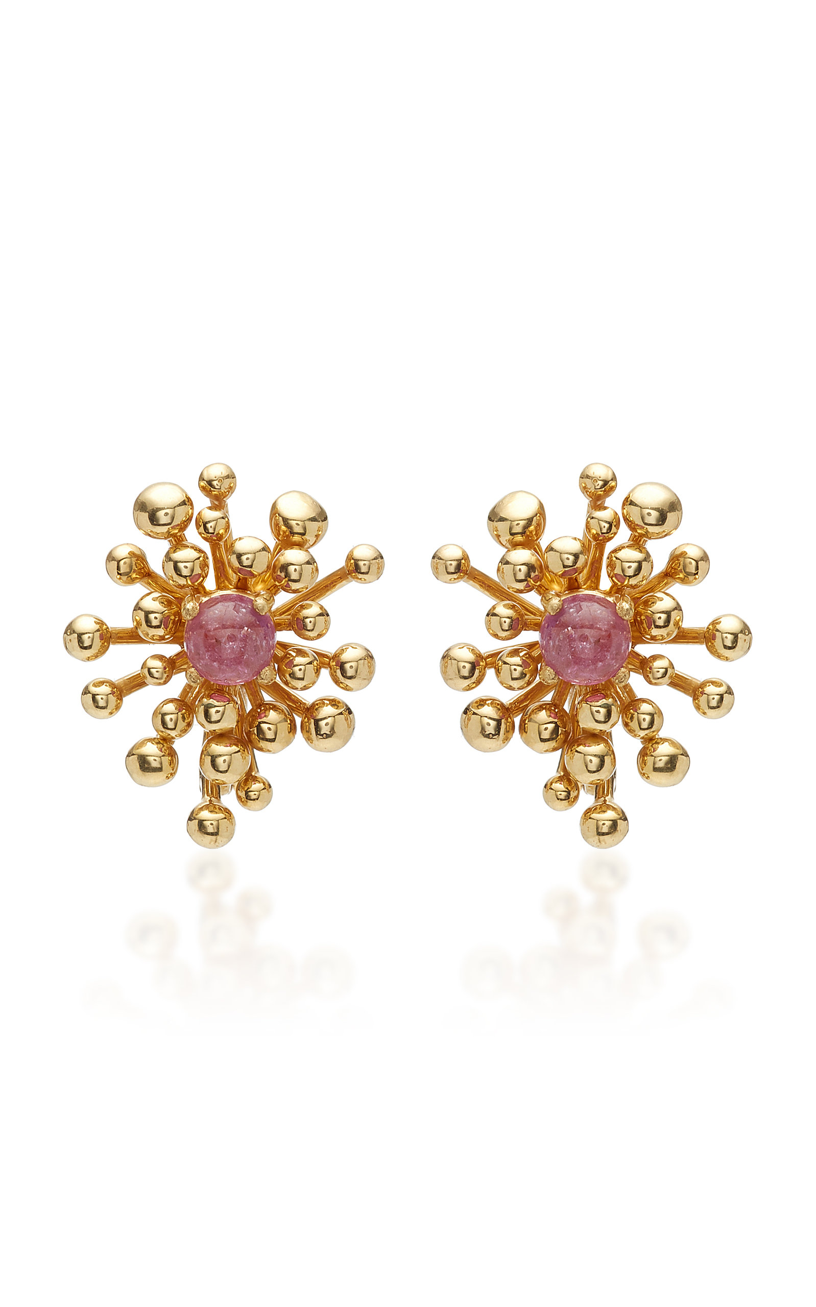 VRAM Nocturne 18K Gold Pink Sapphire Earrings