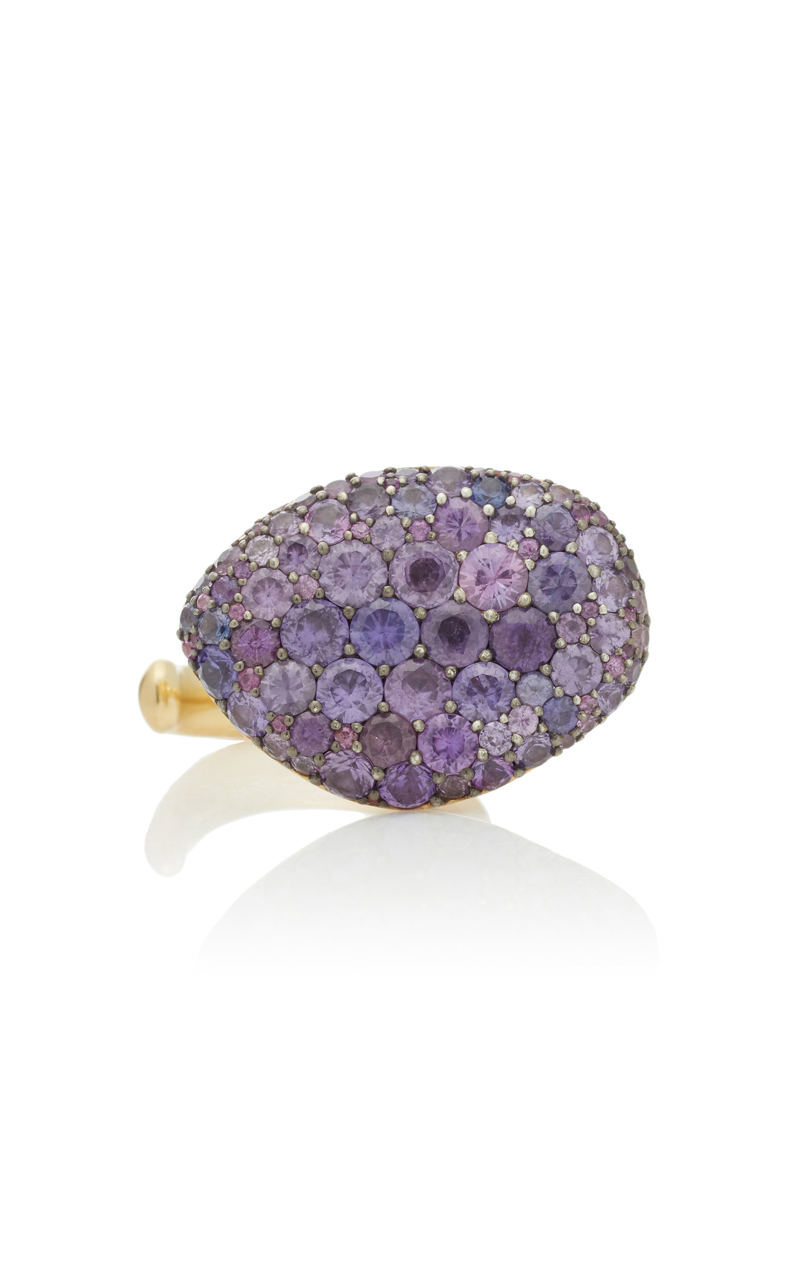 VRAM Colony 18K Gold Sterling Silver And Sapphire Ring in Purple
