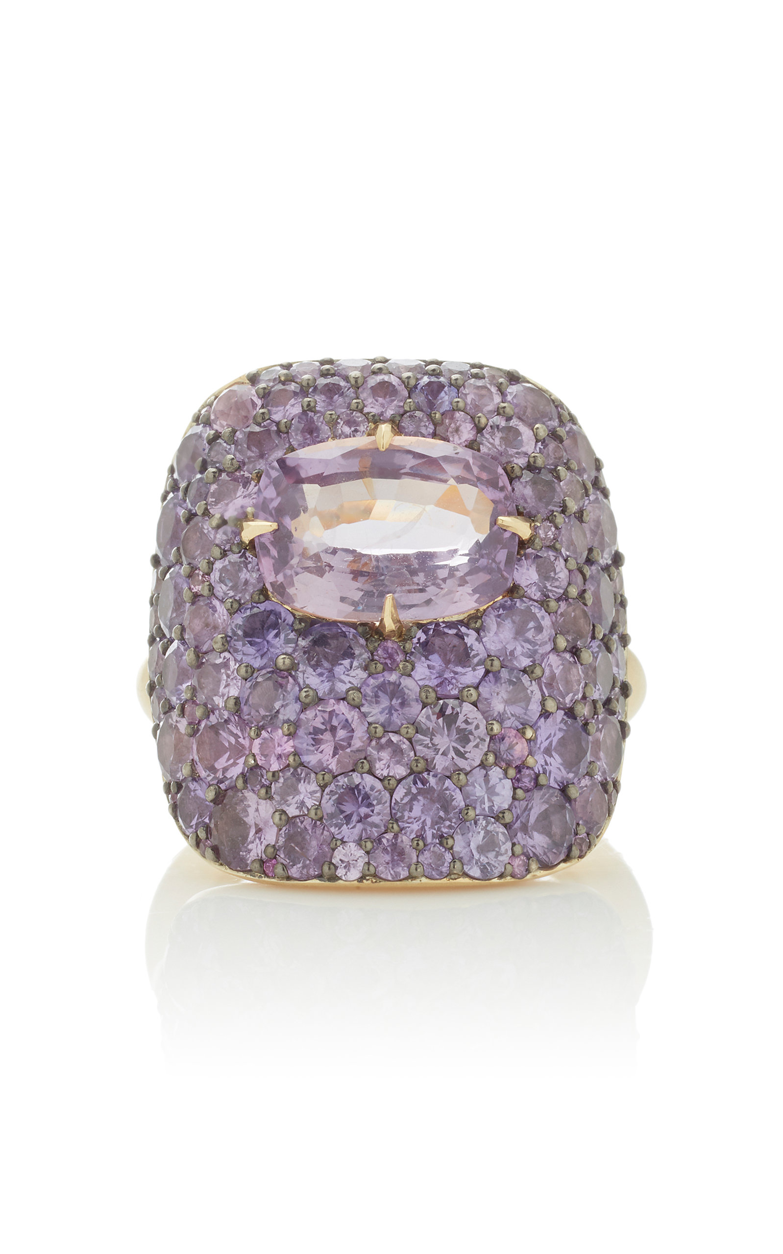 VRAM One-Of-A-Kind 18K Gold Sterling Silver And Sapphire Ring in Purple