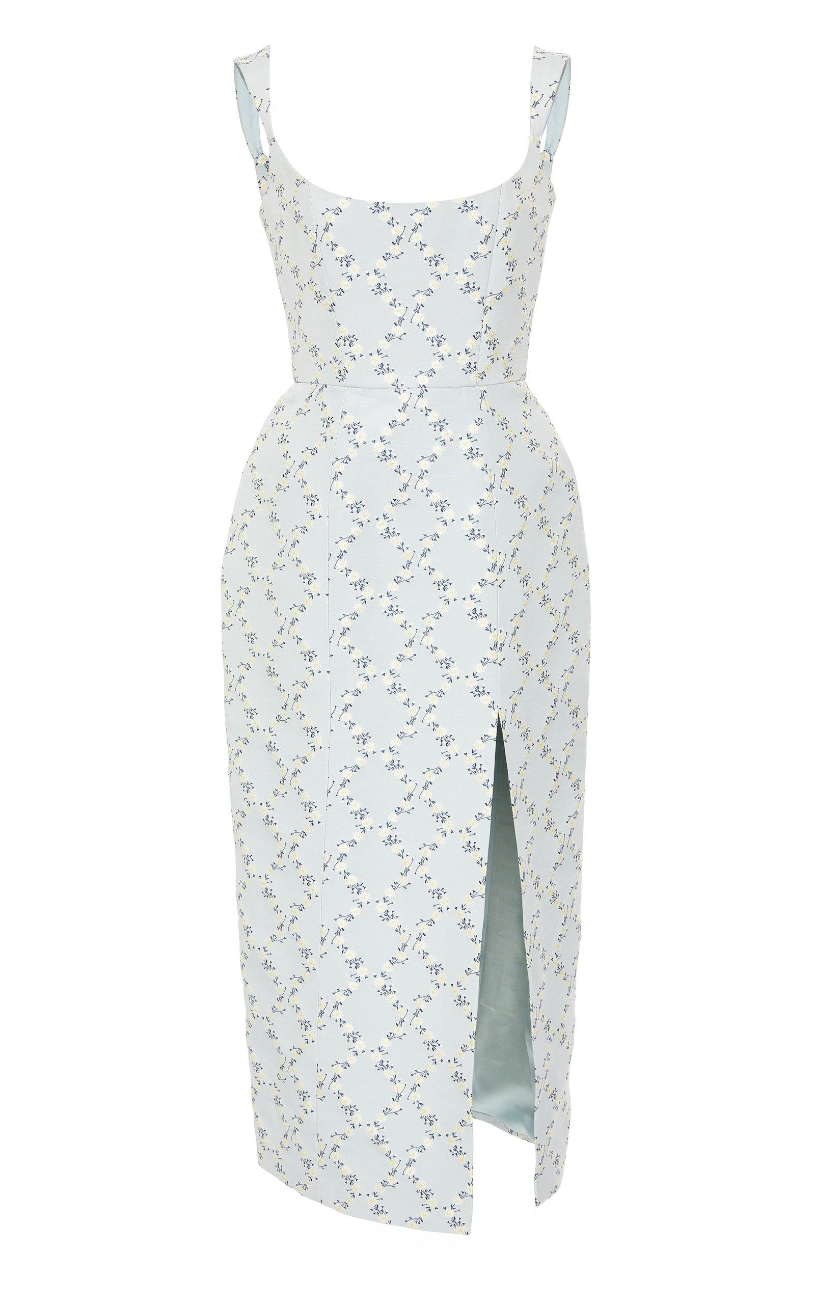 MARKARIAN   Markarian Exclusive Edward Floral-Print Crepe Midi Dress   Goxip