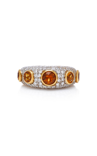 GIOIA | Gioia 18K Gold Citrine And Diamond Ring | Goxip