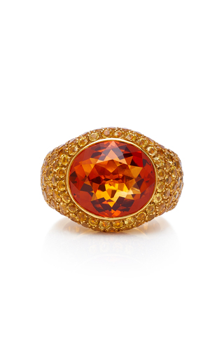GIOIA | Gioia 18K Gold Citrine And Yellow Sapphire Ring | Goxip
