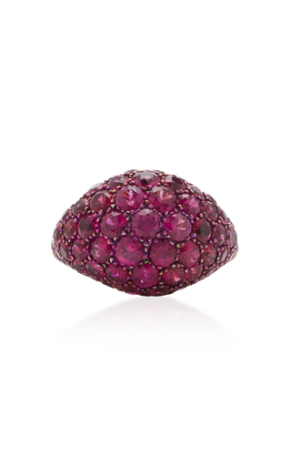 GIOIA | Gioia 18K Gold And Ruby Pinkie Ring | Goxip