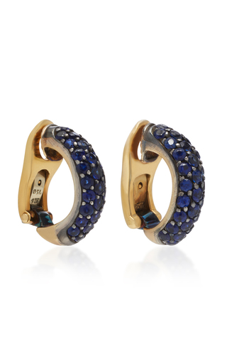 GIOIA | Gioia 18K Gold and Sapphire Earrings | Goxip