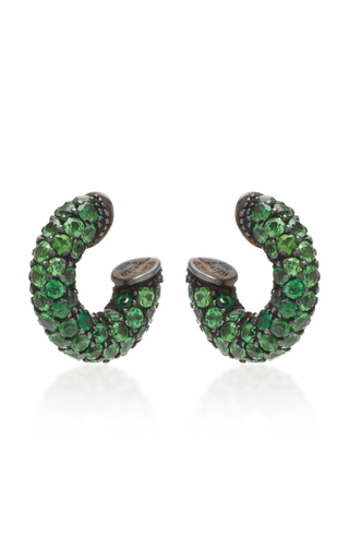 GIOIA | Gioia Pirate 18K Gold and Tsavorite Earrings | Goxip