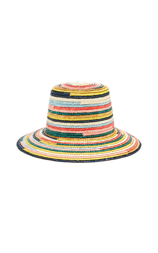 EUGENIA KIM | Eugenia Kim Stevie Striped Straw Hat | Goxip