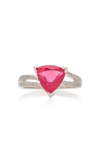 AKILLIS | Akillis 18K Gold Spinel And Diamond Ring | Goxip
