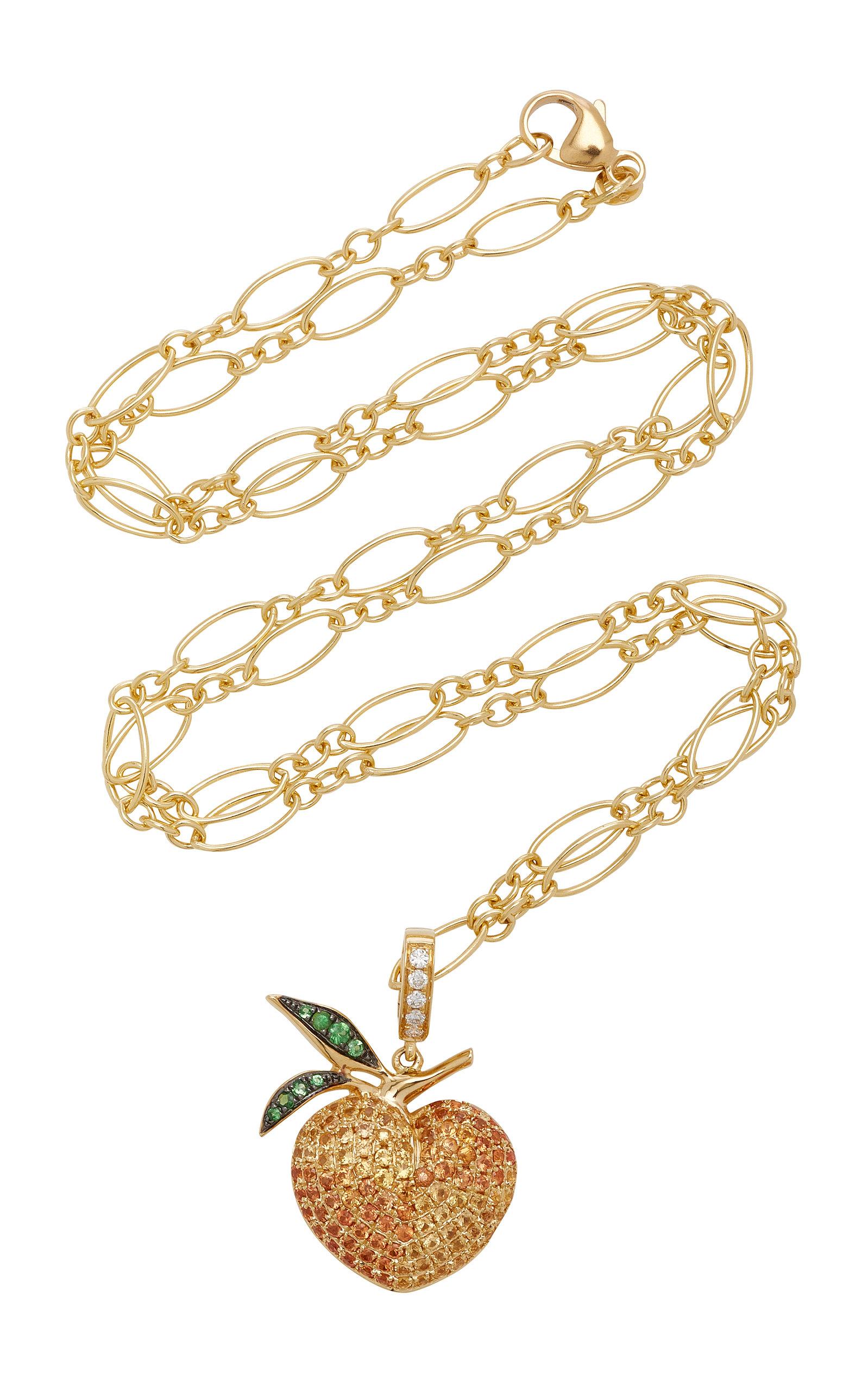 KHAI KHAI 18K Gold Sapphire Diamond And Tsavorite Charm in Multi