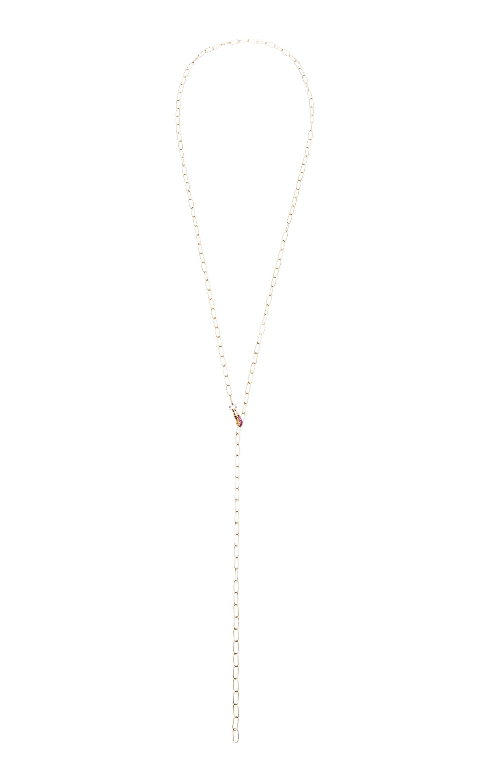 NADINE GHOSN Lana 18K Rose Gold Ruby Necklace