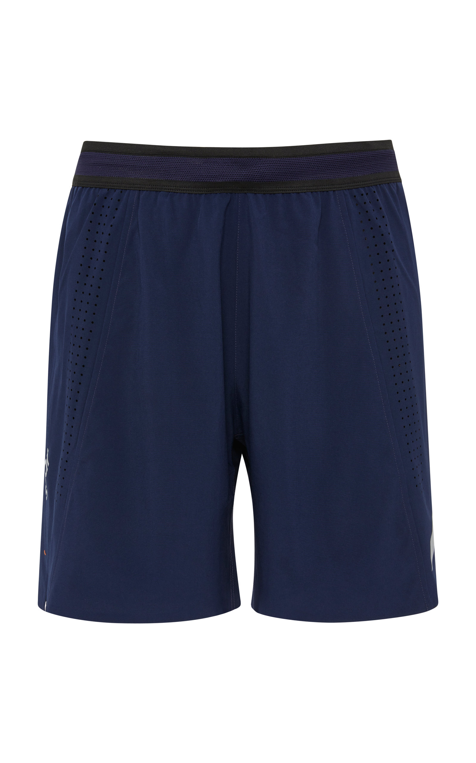 SOAR Mesh-Paneled Stretch-Shell Shorts in Navy