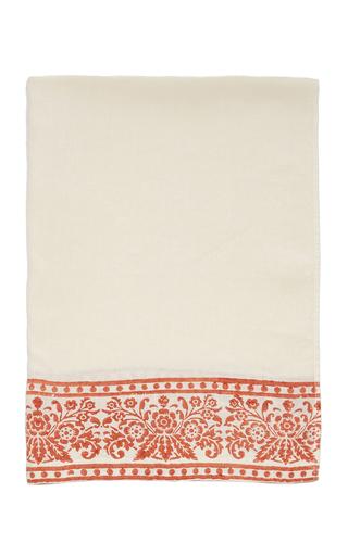 CABANA | CABANA M'O Exclusive Set-of-Two Hand Block Printed Hemp Guest Towel | Goxip