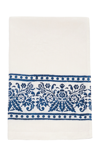 CABANA | CABANA M'O Exclusive Set-of-Two Hand Block Printed Hemp Hand Towel | Goxip