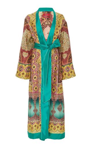 CABANA | CABANA Printed Silk Midi Dressing Gown | Goxip