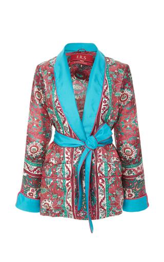 CABANA | CABANA Printed Silk Dressing Gown | Goxip